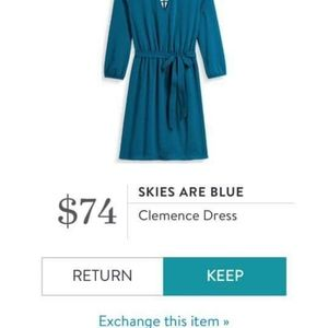 Skies are Blue Clemence Dress - Teal Green